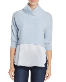 Elie Tahari Claudetta Mixed Media Sweater at Bloomingdales