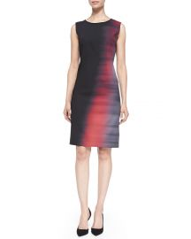 Elie Tahari Emory Sleeveless Abstract Ombre Sheath Dress at Neiman Marcus