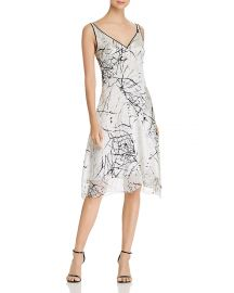 Elie Tahari Seldana Abstract-Print Silk Slip Dress at Bloomingdales
