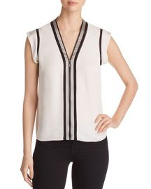 Elie Tahari Vallie Zip-Front Top   Bloomingdale  39 s at Bloomingdales