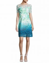 Elie Tharai Laced Organdy Mini Dress at Lord & Taylor