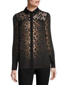 Elie Tahari - Anderson Leopard-Print Silk Blouse at Saks Fifth Avenue