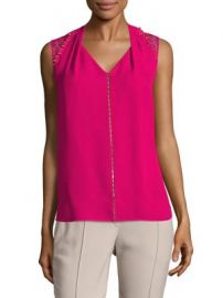Elie Tahari - Barbara Sleeveless Silk Blouse at Saks Fifth Avenue