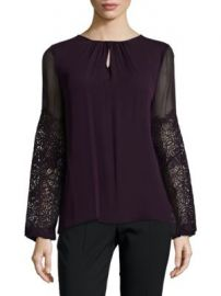 Elie Tahari - Brianna Embroidered Blouse at Saks Off 5th