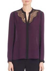 Elie Tahari - Denise Colorblock Silk Blouse at Saks Fifth Avenue