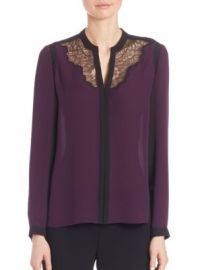 Elie Tahari - Denise Colorblock Silk Blouse at Saks Off 5th