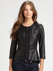 Elie Tahari - Lamb-Leather Pencey Jacket at Saks Fifth Avenue