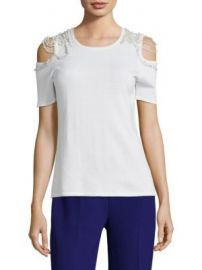 Elie Tahari - Noa Merino Wool Cold Shoulder Sweater at Saks Fifth Avenue