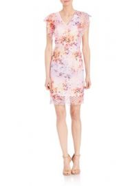 Elie Tahari - Telene Cotton Flutter Sleeve Dress at Saks Off 5th