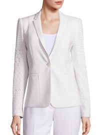 Elie Tahari - Tova Lace Trimmed Jacket White at Saks Fifth Avenue