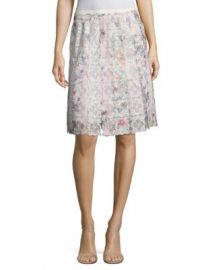 Elie Tahari - Tyler Printed Floral Lace Skirt at Saks Fifth Avenue