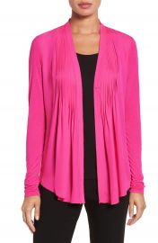 Elie Tahari  Willow  Knit Sleeve Silk Blouse at Nordstrom
