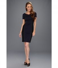 Elie Tahari Erica Dress Midnight DreamBlack at 6pm