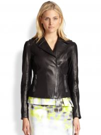 Elie Tahari Friva Leather Jacket at Saks Fifth Avenue