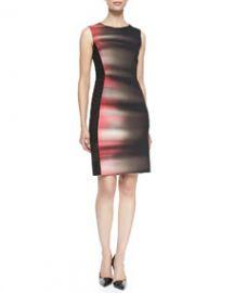 Elie Tahari Isabella Sleeveless Velocity 5-Print Dress at Neiman Marcus