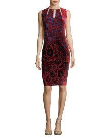 Elie Tahari Jemra Sleeveless Printed Satin Dress   Neiman Marcus at Neiman Marcus