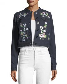 Elie Tahari Meggy Embroidered Denim Jacket   Neiman Marcus at Neiman Marcus