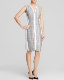 Elie Tahari Mila Zip Front Sheath Dress at Bloomingdales