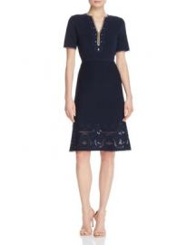 Elie Tahari Scout Embroidered Sweater Dress at Bloomingdales