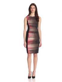 Elie Tahari Womenand39s Isabella Printed Dress at Amazon