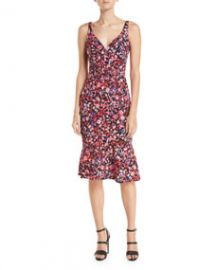 Elie Tahari Yirma Sleeveless Floral-Print Dress at Bergdorf Goodman