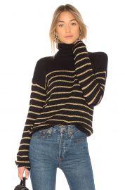 Elisa Metallic Stripe Turtleneck Sweater by ALC at Revolve