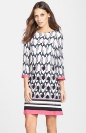 Eliza J Graphic Print Jersey Shift Dress at Nordstrom