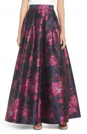 Eliza J Metallic Jacquard Ball Skirt at Nordstrom