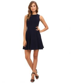 Eliza J Sleeveless Fit andamp Flare Dress Navy at 6pm