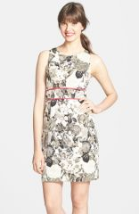 Eliza J Sleeveless Floral Print Dress at Nordstrom