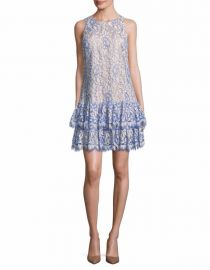 Eliza J Tiered Lace Dress at Saks Off 5th