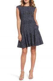 Eliza J Tweed Fit   Flare Dress  Regular   Petite at Nordstrom