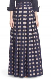 Eliza J Windowpane Satin Ball Skirt at Nordstrom