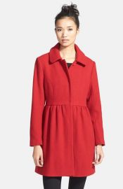 Eliza J Wool Blend Babydoll Coat at Nordstrom