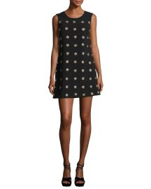 Elizabeth James Lindsey Embellished Sleeveless Mini Shift Dress at Neiman Marcus