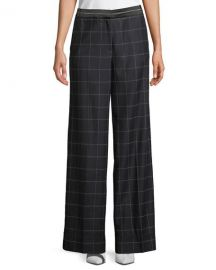 Elizabeth  amp  James Hansel Windowpane Wide-Leg Trouser   Neiman at Neiman Marcus