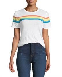 Elizabeth  amp  James Lakota Crewneck Short-Sleeve Rainbow-Print T-Shirt at Neiman Marcus