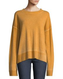 Elizabeth  amp  James Oliver Crewneck Dropped-Shoulder Cashmere Pullover Sweater at Neiman Marcus