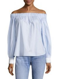 Elizabeth and James - Geneva Off-The-Shoulder Fil Coup  Top at Saks Fifth Avenue