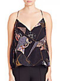 Elizabeth and James - Luella Patchwork-Print Silk Top at Saks Off 5th