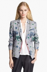 Elizabeth and James Bourne Floral Print Flannel Jacket at Nordstrom