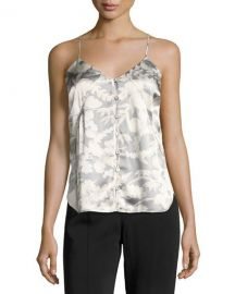 Elizabeth and James Carlo P  Button-Down Silk Camisole Tank  White at Neiman Marcus