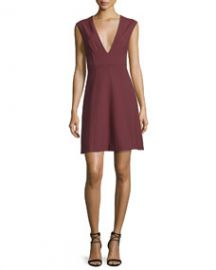 Elizabeth and James Charlie Sleeveless V-Neck Stretch Dress  Bordeaux at Last Call