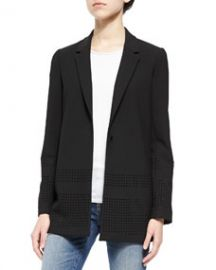 Elizabeth and James Franco Perforated Crepe Blazer at Neiman Marcus