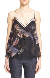 Elizabeth and James Luella Patchwork Print Silk Tank at Nordstrom
