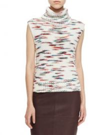 Elizabeth and James Sleeveless Turtleneck Sweater Ivory at Neiman Marcus