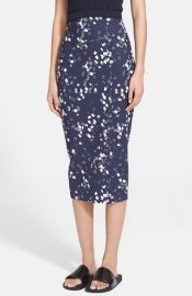 Elizabeth and James and39Rogenand39 Block Print Midi Skirt at Nordstrom