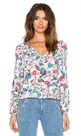 Ella Moss Dolce Flora Peasant Top in Natural at Revolve
