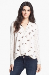 Ella Moss Jane Doe Mixed Print Shirt at Nordstrom