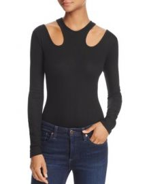 Ella Moss Rhoda Cutout Rib-Knit Bodysuit at Bloomingdales